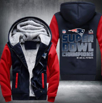NFL NEW ENGLAND PATRIOTS SUPER BOWL LI CHAMPIONS THICK FLEECE JACKET