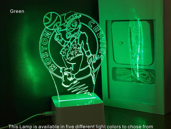NBA BOSTON CELTICS 3D LED LIGHT LAMP