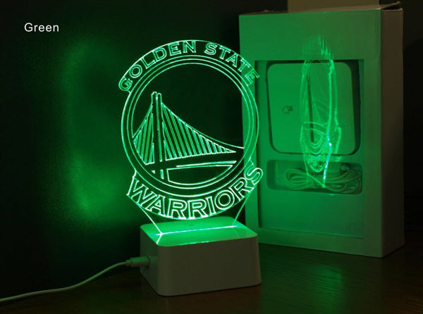 NBA GOLDEN STATE WARRIORS 3D LED LIGHT LAMP