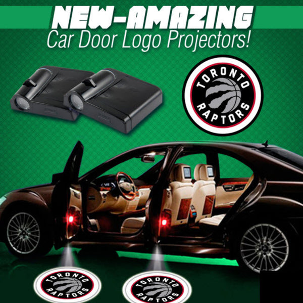 2 NBA TORONTO RAPTORS WIRELESS LED CAR DOOR PROJECTORS