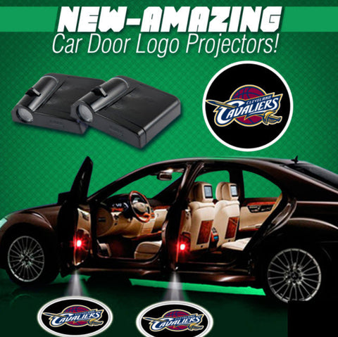 2 NBA CLEVELAND CAVALIERS WIRELESS LED CAR DOOR PROJECTORS