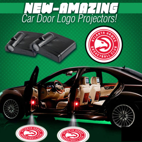 2 NBA ATLANTA HAWKS WIRELESS LED CAR DOOR PROJECTORS
