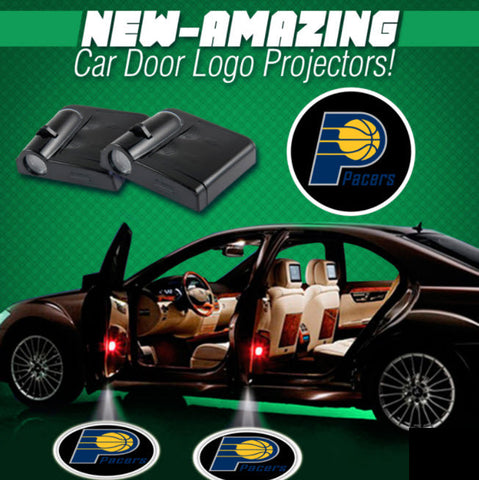 2 NBA INDIANA PACERS WIRELESS LED CAR DOOR PROJECTORS