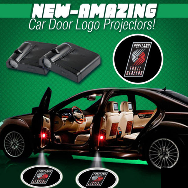2 NBA PORTLAND TRAILBLAZERS WIRELESS LED CAR DOOR PROJECTORS