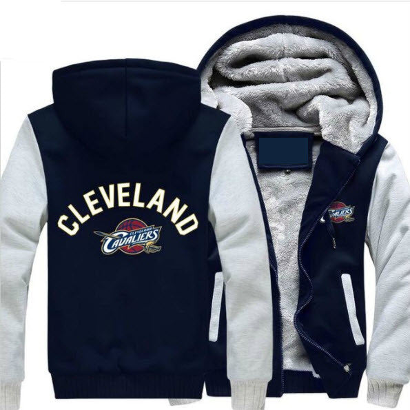 NBA CLEVELAND CAVALIERS LOGO THICK FLEECE JACKET