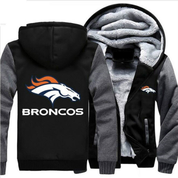 NFL DENVER BRONCOS LOGO THICK FLEECE JACKET