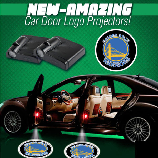 2 NBA GOLDEN STATE WARRIORS WIRELESS LED CAR DOOR PROJECTORS