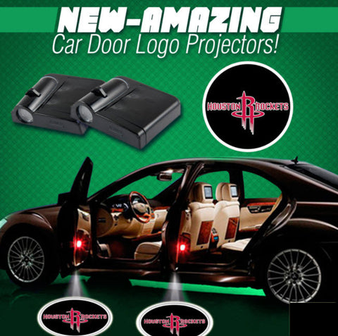 2 NBA HOUSTON ROCKETS WIRELESS LED CAR DOOR PROJECTORS