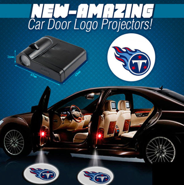 2 NFL TENNESSEE TITANS WIRELESS LED CAR DOOR PROJECTORS