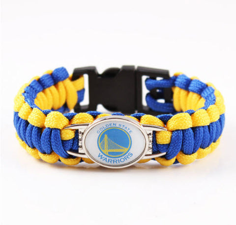 NBA Golden State Warriors Paracord Survival Bracelet