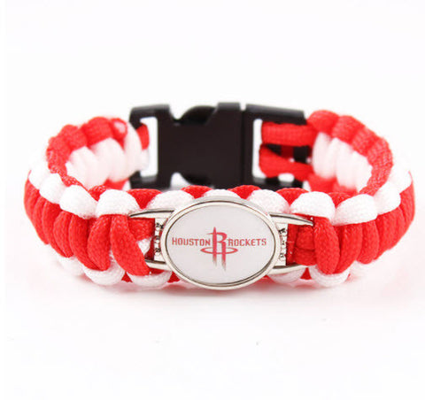 NBA Houston Rockets Paracord Survival Bracelet