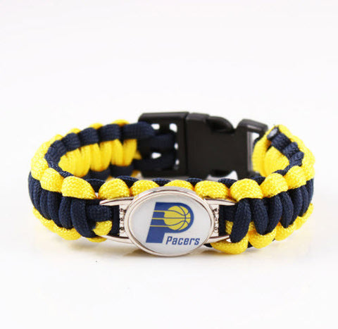 NBA Indiana Pacers Paracord Survival Bracelet