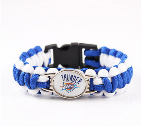 NBA Oklahoma City Thunder Paracord Survival Bracelet