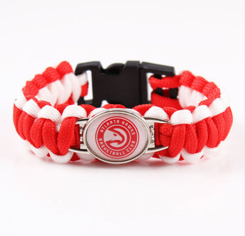 NBA Atlanta Hawks Paracord Survival Bracelet