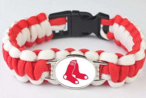 MLB Boston Red Sox Paracord Survival Bracelet