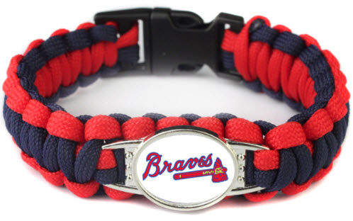 MLB Atlanta Braves Paracord Survival Bracelet