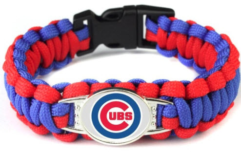 MLB Chicago Cubs Paracord Survival Bracelet