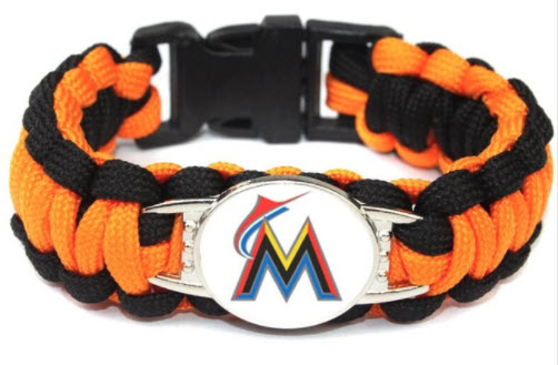 MLB Florida Marlins Paracord Survival Bracelet