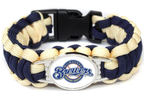 MLB Milwaukee Brewers Paracord Survival Bracelet