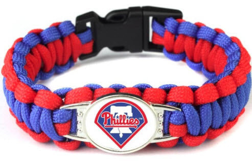 MLB Philadelphia Phillies Paracord Survival Bracelet
