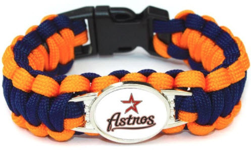 MLB Houston Astros Paracord Survival Bracelet