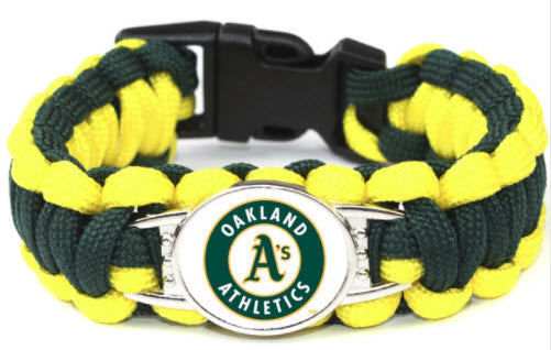 MLB Oakland Athletics Paracord Survival Bracelet