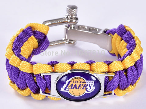 NBA Los Angeles Lakers Paracord Survival Bracelet