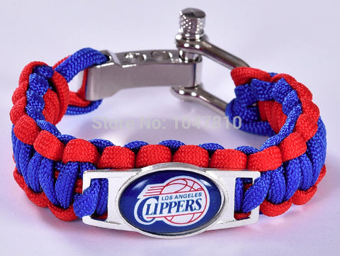 NBA Los Angeles Clippers Paracord Survival Bracelet