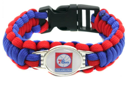 NBA Philadelphia 76ers Paracord Survival Bracelet