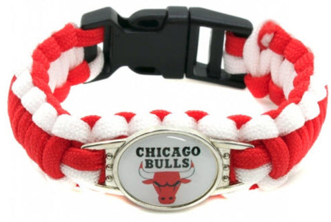 NBA Chicago Bulls Paracord Survival Bracelet