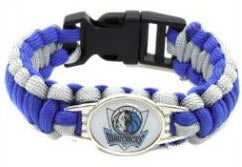 NBA Dallas Mavericks Paracord Survival Bracelet