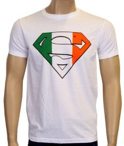 Superman Irish Flag Logo White Tshirt - TshirtNow.net