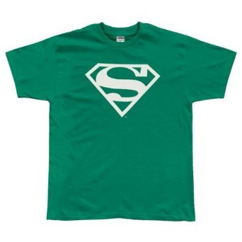 Superman White Logo Kelly Green Tshirt