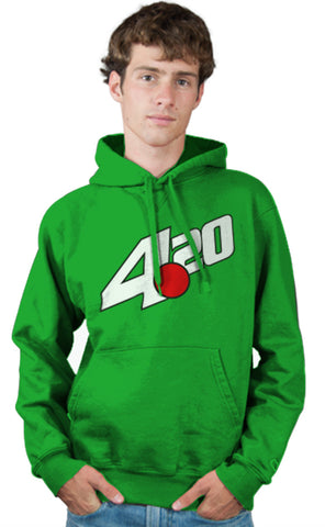 7 Up Logo Parody Spoof Hoodie: 4:20 Logo Kelly Green Colored Hoodie Hoody Sweatshirt