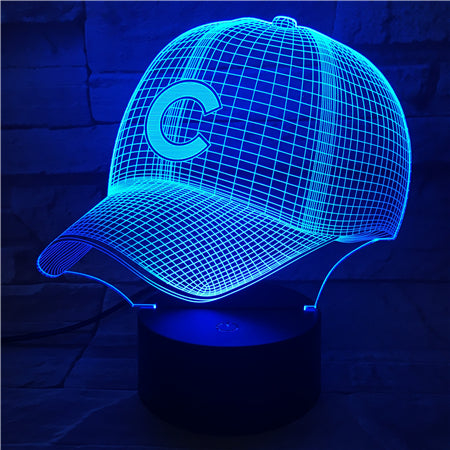 MLB CHICAGO CUBS 3D LED LIGHT LAMP