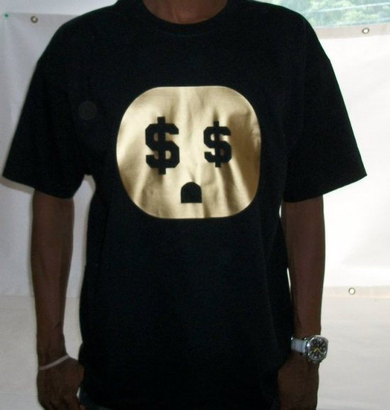 "The Connect ""Money Plug"" Tshirt: Black With Gold Print - TshirtNow.net - 1"