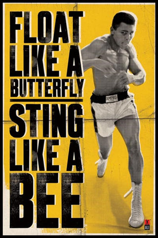 Muhammad Ali Float like a butterfly, sting like a bee Poster