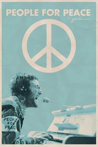 Beatles John Lennon People For Peace Poster - TshirtNow.net