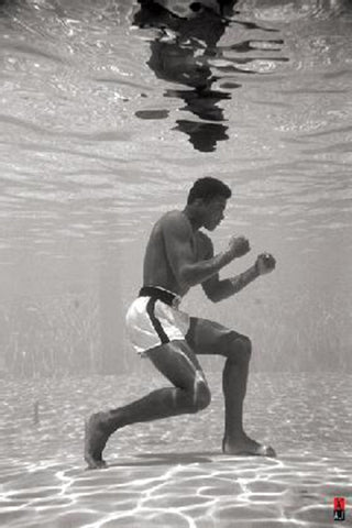 Muhammad Ali Under Water Training Poster