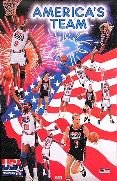 Americas Team 1992 Olympic Dream Team Poster - TshirtNow.net