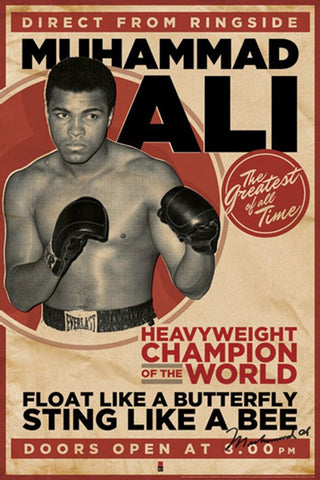 Muhammad Ali Direct From Ringside Poster