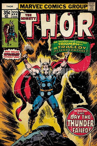 Thor Thunder Failed Comic Poster