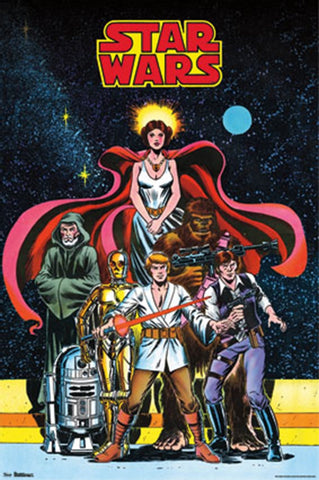 Star Wars Comic Cover Poster