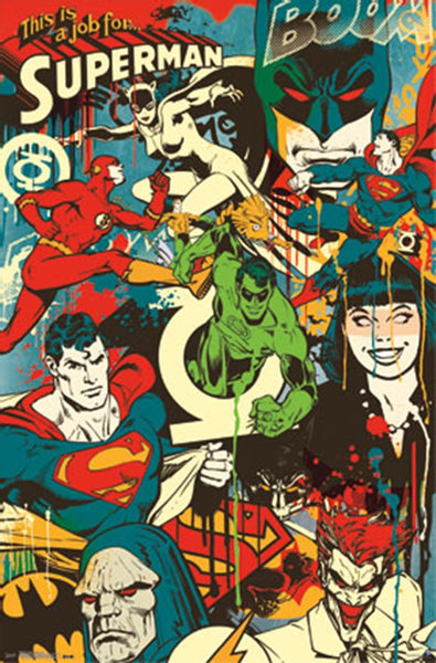 DC Comics Throwback Montage Poster - TshirtNow.net