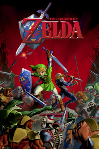 Zelda Battle Gaming Poster