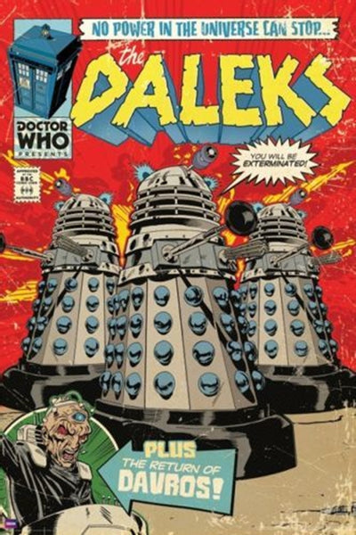 Doctor Who Daleks Comic Poster - TshirtNow.net