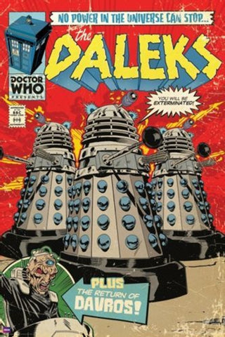 Doctor Who Daleks Comic Poster