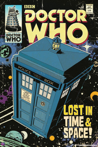 Doctor Who Lost in Time and Space Comic Poster