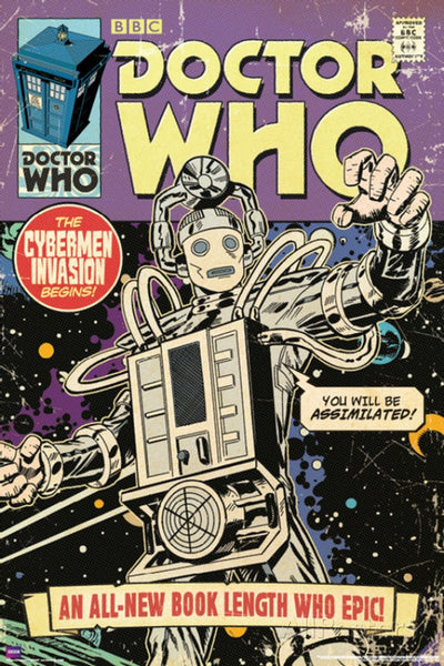 Doctor Who Cybermen Invasion Comic Poster - TshirtNow.net