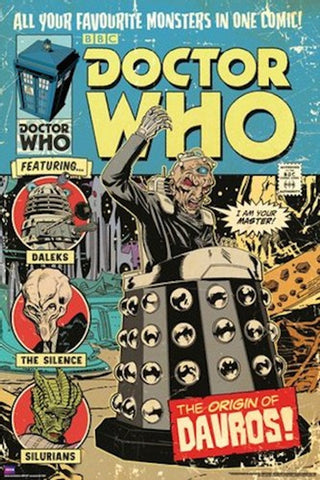 Doctor Who Origins of Davros Comic Poster